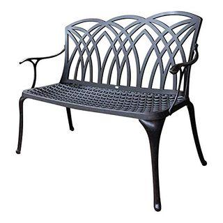 Lazy Susan Beiges Kissen Wei/ß GRACE Gartenbank aus Aluminium