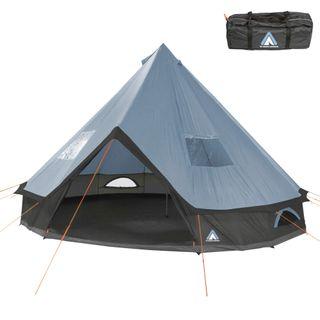 10T Outdoor Equipment Campingzelt Mojave 500 Arona XXL Tipi Zelt wasserdichtes 5-10