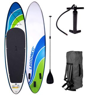 "SUP Board Stand up Paddling Surfboard""Speed"" 320x76x15cm aufblasbar"