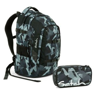 Satch Pack Gravity Grey Schulrucksack Set 2tlg