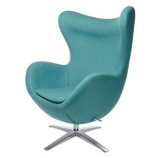 furnigo Designer Sessel in Ei Form