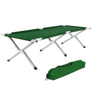 TecTake XL Alu Feldbett Campingbett belastbar bis 150 kg