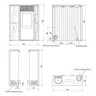 Italiana Camini E680000 ITC Micron Keramik