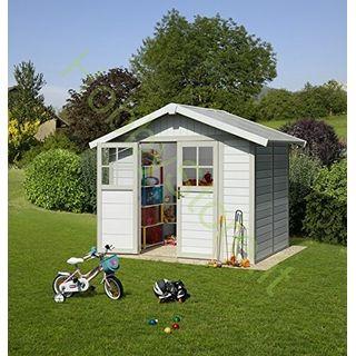 Kunststoff-Gartenhaus Deco H4,9 grau