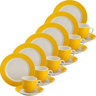 Porzellan Gepolana Kaffeeservice 18-tlg Bunt