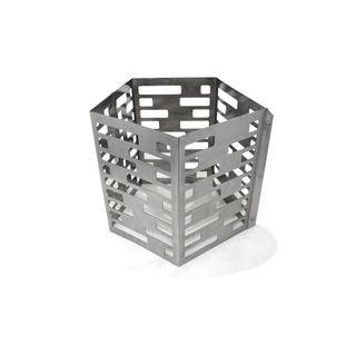 Premium Edelstahl V2A Feuerschale im Turbinen Design