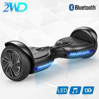 2WD Hoverboard Q3 selbst ausgewogene Roller 6.5 Zoll Elektroroller UL zertifiziert mit eingebautem Stereo Sound Bluetooth Lautsprecher (schwarz)