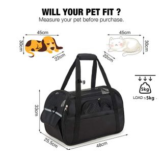 ubest Hunde Tragetaschen Transporttasche Katze Faltbar aus