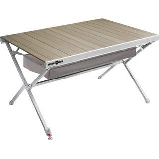 Explorer Titanium Tisch 122x79x70cm Aluminium Alu Campingtisch Rolltisch