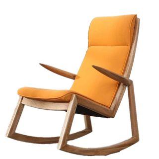 YBWEN Schaukelstuhl Einzel Freizeit-Stuhl Linen Erwachsener