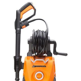 YardForce EW U15 Hochdruckreiniger, 2000W – Leistungsstarker Elektro Druckreiniger mit Total-Stop-System & Schlauchrolle - ideal für Terrasse, Auto oder Einfahrt