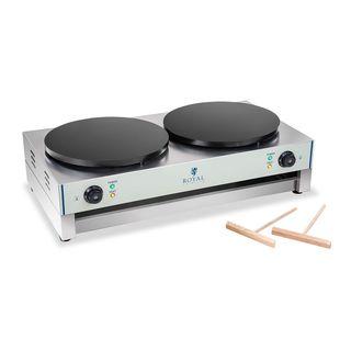 Royal Catering RCEC-6000-E Crepes Maker Profi Crepeseisen Doppelt