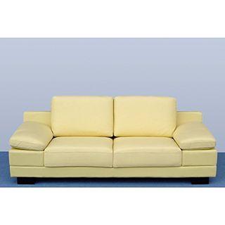 Designer Leder-Sofa-3 Sitzer Garnitur Bett-Couch 402-3-Be