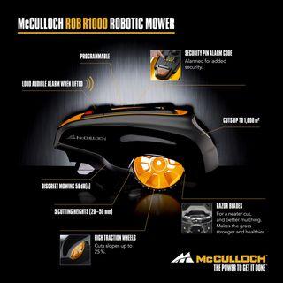 McCulloch Rob R600 Rasenmäher kabellos Roboter