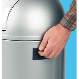 Hailo KickMaxx L Mülleimer aus Stahlblech