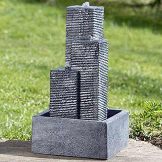 DAFLOXX Genialer XL Brunnen Lopar 71cm Outdoor Beton Grau