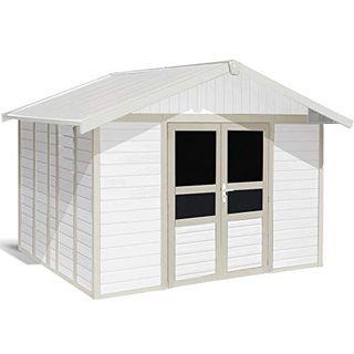 Ondis24 Grosfillex hochwertiges stabiles Gartenhaus Basic Home