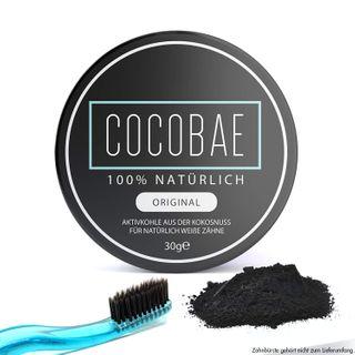 Cocobae Teeth Whitening Aktivkohle Zahnaufhellung Weiße Zähne–Kokosnuss Dental Zahnreinigung O
