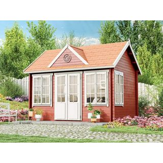 Alpholz Gartenhaus CAROLINA-28 Holzhaus