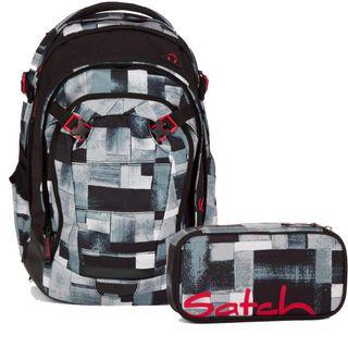 Satch Schulrucksack-Set 2-TLG Match City Fitty Grau