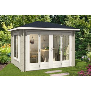 CARLSSON Gartenhaus Summertime-40 mit großer Falttür