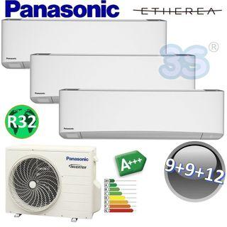 Trio Split raum gerät Etherea Panasonic Klimaanlage 2,5+2,5+3,2