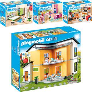Playmobil City Life 4er Set 9266 9267 9270 9271 Modernes Wohnhaus