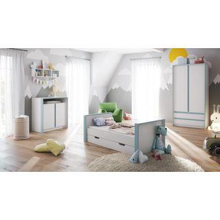 Babyzimmer Kinderzimmer Komplett Set Nandini Set 1 In Weiss Matt Im