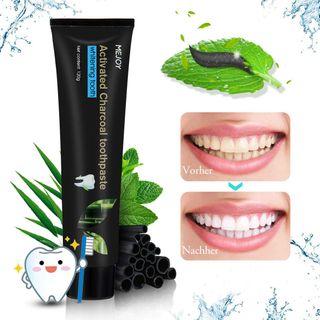 Aktivkohle Bambuskohle schwarze Zahnpasta