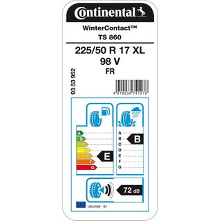 CONTINENTAL WinterContact TS 860 XL 225/50/17 098V