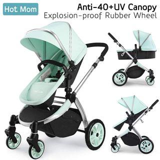 Hot Mom Multi Kinderwagen Kombikinderwagen 2 in 1