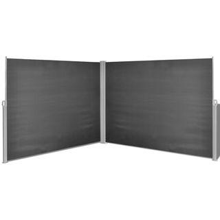 vidaXL Seitenmarkise Doppel 180x600cm Sichtschutz Seitenrollo Windschutz