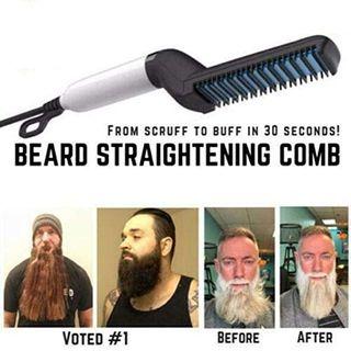 Männer Schnelle Bartglätter Kamm und Bartschablone Rasierhilfe