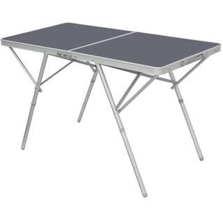 AMANKA Standfester Aluminium Campingtisch 120x60x70cm Stabiler