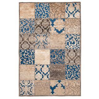 Carpeto Orientteppich Teppich Türkis 160 x 230 cm Patchwork Muster Hortense