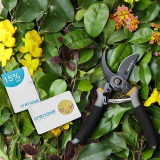 Crenova 8'' Premium Titan Bypass Gartenschere
