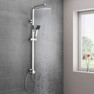 WOOHSE Duschsystem Duscharmatur Edelstahl
