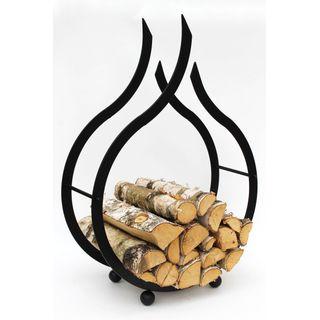 DanDiBo Kaminholzständer Flamme