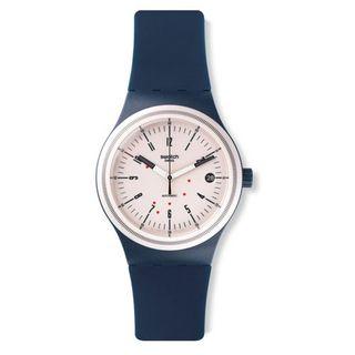 Swatch Herren-Armbanduhr Analog Quarz Silikon SUTN400