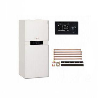 Viessmann Vitodens 222-F 13 kW Vitotronic 200 Paket Gas Brennwert Therme Kompaktheizgerät