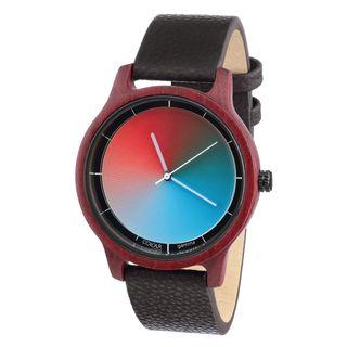 Rainbow Watch Cool Wood Purple Heart Gamma Unisex Armbanduhr Quarz