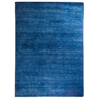 Morgenland Gabbeh Teppich Blau UNI Einfarbig Handgewebt Schurwolle 240 x 170 cm
