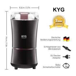 KYG Kaffeemühle 300W Elektrische Kaffeemühle Kaffeebohnen