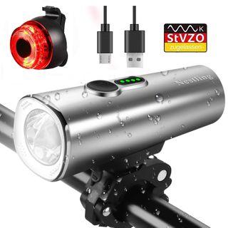 QITAO LED Fahrradlicht QITAO USB Wiederaufladbare fahrrad scheinwerfer