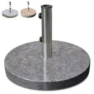 Nexos Sonnenschirmständer Marmor poliert grau rund Ø 50cm 25kg