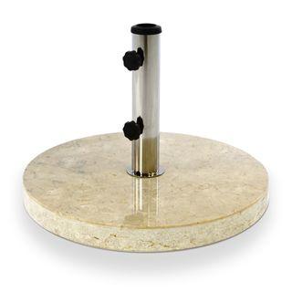 Nexos Sonnenschirmständer Marmor poliert Creme beige rund Ø 50cm 25kg