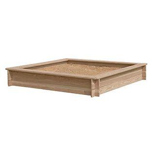 Gartenpirat Sandkasten 180 x 180 x 30 cm aus Holz 30 mm imprägniert