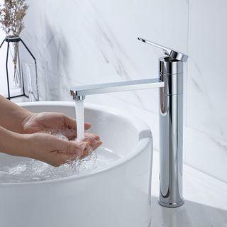 Amazon Marke: Umi Essentials hoch Wasserhahn Waschbecken Armatur Bad Einhebelmischer