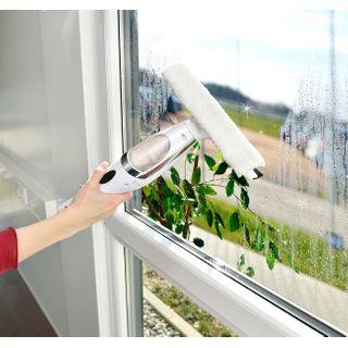 Sichler Haushaltsgeräte Fensterputzen: Akku-Fenstersauger-Set