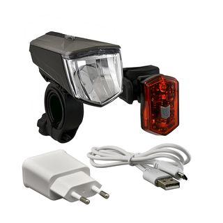 Büchel LED-Akkuleuchtenset 80 Lux Frontlampe: Vail